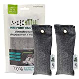 Moso Natural Mini Air Purifying Bags, Shoe Deodorizer And Odor Eliminator,