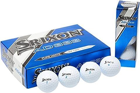 Srixon AD333 Balles de golf homme Pack de 12 Blanc