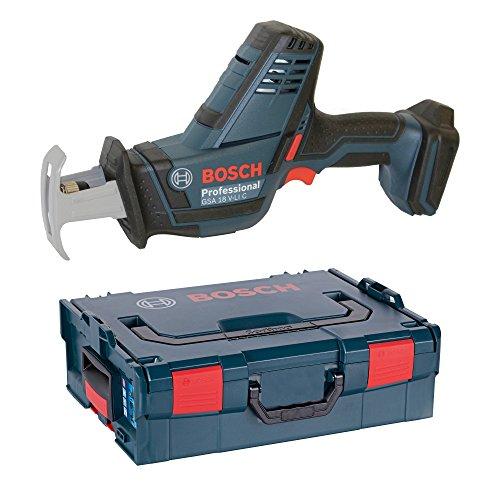 Bosch Professional GSA 18 V-LI C Akku-Säbelsäge, Schnitttiefe bis 200 mm in Holz, 100 mm in Metalprofilen, 2,5kg, Solo Version, L-BOXX, 1 Stück, 06016A5001 (Bosch Säbelsäge)