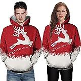 Weihnachtspaar Sweatshirt LSAltd Damen Herren Xmas Deer Schneeflocke Print Pullover Langarm Kapuzenpullover Erwachsene Unisex Weihnachten Druck Langarm Hoodies Tops