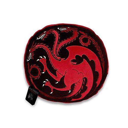 Game of Thrones Kissen Targaryen, ca. 35 cm – Plüschkissen schwarz/rot