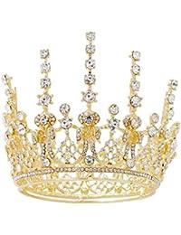 539175cd53ab auvwxyz Tiaras Rhinestone Crown Princess Accesorios para El Cabello Corona  De Cumpleaños Accesorios De Vestido De