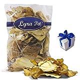 100 Rinderohren ca. 7 kg Lyra Pet Hundefutter Snack wie Schweineohren + Geschenk