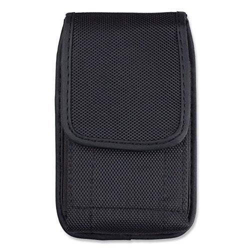 Jlyifan Yinuo Gürteltasche für iPhone 6S Plus/LG G5 / G4 / Motorola Droid Turbo 2 / Moto G 3G / Sony Xperia X, Nylon, vertikal, Schwarz Iphone 3g Leder-holster