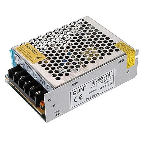 MASUNN 12V 3.2A 40W Switch Power Supply Driver For LED Light Strip 110V/220V