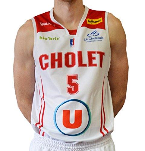 Spalding Cholet Basketball Trikot Herren L weiß