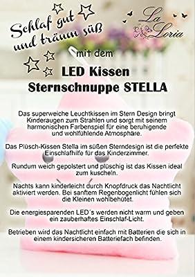 LED Kissen Plüschkissen Nachtlichtkissen Led Pillow Sternschnuppe Stella La Loria UVP: 14,95 €
