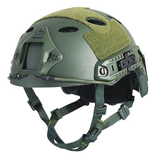 Dial-pad Headset (Airsoft Helm Oliv Grün Taktisch FAST/Schnelle PJ Base Jump Us-Militär Helm für Paintball CS Spiel CQB Schießen)