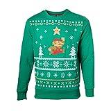 Nintendo Pullover -S- Christmas, grün