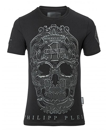 Philipp plein play mtk1400 02 maglietta nero black uomo