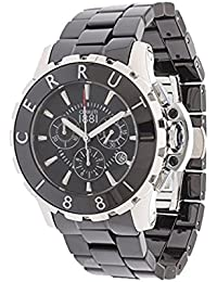 Reloj hombre CERRUTI cerámica negro cra078z221h