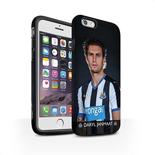 Officiel Newcastle United FC Coque / Matte Robuste Antichoc Etui pour Apple iPhone 6S / Shelvey Design / NUFC Joueur Football 15/16 Collection Janmaat