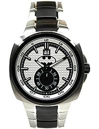 Classic Batman 75Año edición limitada silver-toned bate de reloj para hombre (8057)