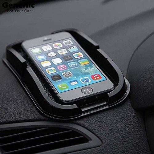 1PC Negro del tablero de instrumentos del cojín pegajoso Mat no del resbalón anti Titular del tablero de instrumentos del coche para el teléfono móvil se coloca Gadget GPS