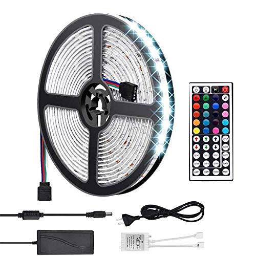 Simfonio Tira LED 12V Luces LED - Tiras Led RGB 5M 150 Leds Impermeable 5050 SMD RGB Tiras de LED Kit Completo