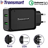 #10: Tronsmart Dual USB Wall Charger with Quick Charge 3.0 Technology for Galaxy S7 / S6 / Edge / Plus, iPhone 7 / 6s / Plus, iPad Pro / Air 2, LG, Nexus, HTC and More