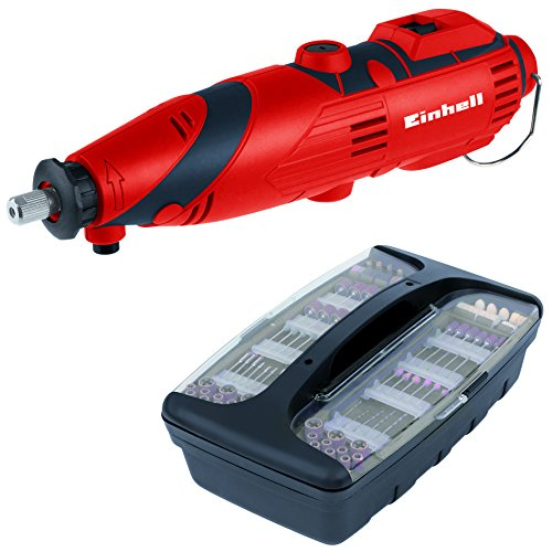 EINHELL TH-MG 135 E - MINI TALADRO (KIT DE ACCESORIOS DE 189 PIEZAS  MALETIN  EJE FLEXIBLE  135 W) COLOR ROJO