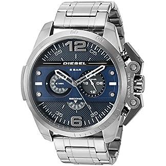 Diesel Advanced – Reloj análogico de cuarzo con correa de acero inoxidable para hombre, color gris/azul