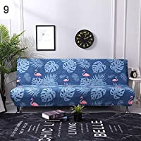 grefaydin Sofa Cover Feather Flamingo Stretch Armless Sofa Cover Couch Slipcover Furniture Protector - 9#