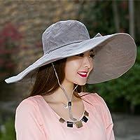 PLKOI Primavera VeranoSombrero para el solLa Sra. Sombreros de veranoTapa de RadiadorSunscreenPlaya CapPlegableSombrero para el sol, 54-59 3 de la soga, paraviento
