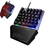 One Hand Keyboard, AxCella Gaming Keyboard Single-Handed with 35 Keys for PS4/Xbox/Switch/PC, Portable