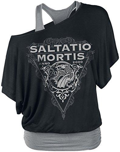 Saltatio Mortis Dragon Triangle Girl-Shirt Schwarz/Grau Schwarz/Grau