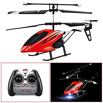 JANUARY SALE - Red 3.0 Channel Infrared Remote Control RC Mini Gyro Helicopter with LED Lights