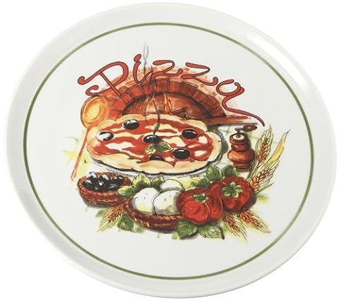 Tognana Cinzia Assiette ronde Motif four à pizza 33cm