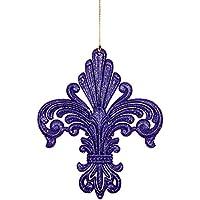 Confezione da 4 - 14 centimetri Purple Glitter Hanging Decorazione albero di Natale