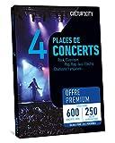 CULTUR 'in The City Coffret Cadeau 4 Places - Box Musique - 600 Concerts Premium - 250 Salles en France - Places de Concert Pop, Electro, Rock, Rap, Jazz ou Musique Classique et chansons françaises