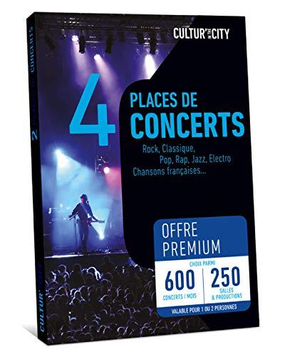 CULTUR'IN THE CITY Coffret Cadeau - 4 Places - 600 Concerts Premium - 250 Salles Partenaires Partout en France - Pop, Rock, Hip-Hop, Jazz ou Musique Classique et chansons française !