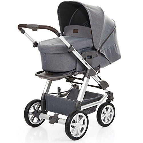 ABC Design Tereno 4 - Kombikinderwagen mit Lufträdern - 2in1 Kinderwagen Set - inkl. Babywanne & Sportwagen (Mountain)