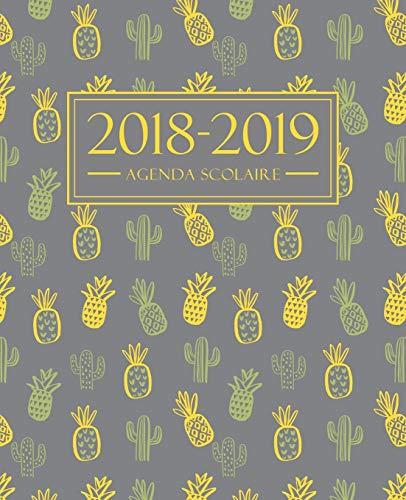 Agenda scolaire 2018-2019: 19x23cm : Agenda 2018 2019 semainier : Motif ananas et cactus par Papeterie Bleu