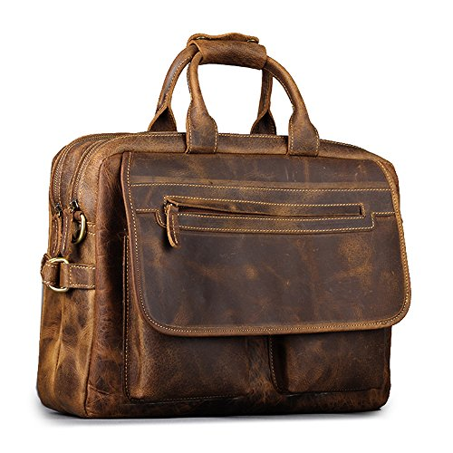kattee-leather-mens-dark-brown-156-inch-laptop-bag-briefcase-handbag-messenger-shoulder-bag