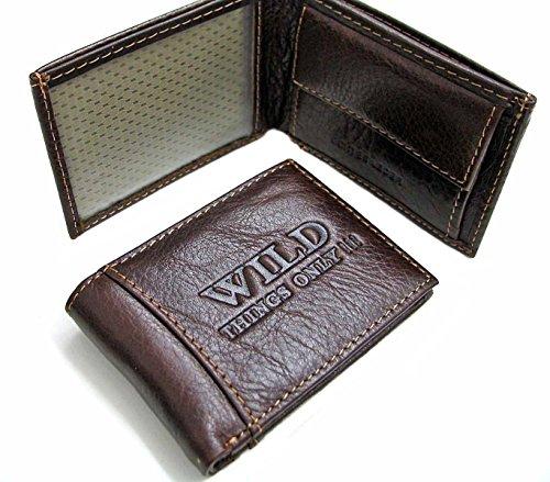 Kleines Herrenportemonnaie in Echt-Leder (Leder-druckknopfverschluss-mini)