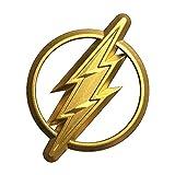 Fan Emblems Das Flash-Logo 3D-Auto-Emblem Gold, DC Comics Justice League Automobil-Aufkleber...