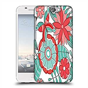 Snoogg abstract floral background Designer Protective Back Case Cover For HTC one A9
