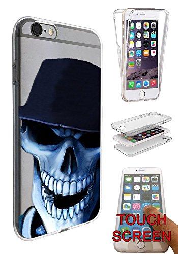 Preisvergleich Produktbild C0643 - Cool Laughing Skeleton Skull Wearing A Cap Design iphone 6 6S 4.7'' Fashion Trend Silikon Hülle Komplett 360 Degree Schutzhülle Gel Rubber Silicone Hülle