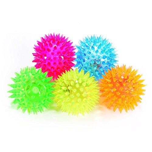 zantec Cosmos 5Stück Elastic Spike Ball mit LED Flash Light Up für Fun/Spiele mit Befestigungsband