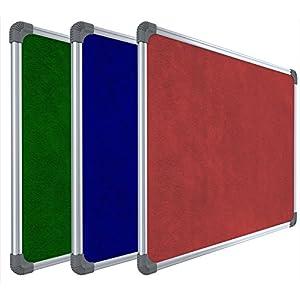 Pragati Systems® Genius Pin-up Display Board for Home, Kids, Office & School (GPUB6090), Lightweight Aluminium Frame…