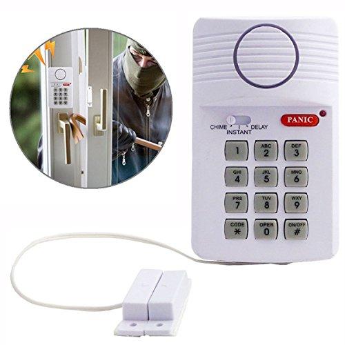 bositools Adapterkabel Wireless Tür Alarm für Schuppen/Garage/Caravan mit Sicherheit Tastatur/PANIC Alarm (Tür-alarm Mit Tastatur)