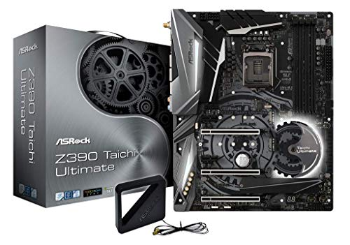 ASRock Z390 Taichi Ultimate Mainboard, Socket 1151, RGB-LED Motherboard, ATX, mattschwarz