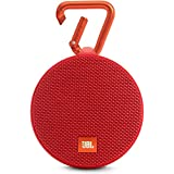 (Renewed) JBL Clip 2 Portable Wireless Bluetooth Speaker with Mic (Red)