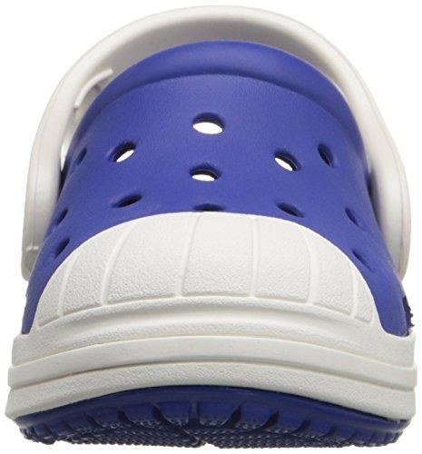 Crocs - Bumper Toe Clog Kids, Zoccolo infantile Blu (Cerulean Blue/Oyster)