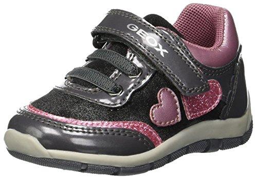 Geox Baby Mädchen B Shaax B Sneaker Grau (Grey/Pink C0502) 24 EU