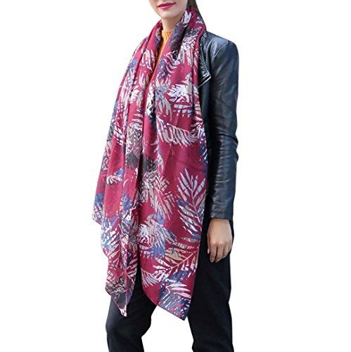 Schals & Wraps, neue Frauen Mode gedruckt Satin-Seide Schal Schal Von Dragon (Rot) (Frauen Seide Mode)
