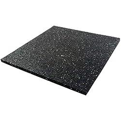 Tapis anti vibration etm® caoutchouc isonoriant, isolant | idéal machine à laver, batterie, et plus | 3 tailles, épaisseur au choix - 60x80cm, 10mm