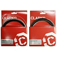 "Clarks Universal Bicycle Bike Gear Derailleur & Brake Cable Set - Stainless Steel ""BLACK"""