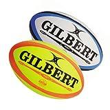 Gilbert Omega Match Ballon de Rugby, Blanc, 5