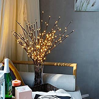 LED iluminado Willow Branches luces iluminación eléctrica rama artificial Plantas lámpara de árbol para Navidad Fiesta Boda Ceremonia Jardín Dormitorio Home exterior Decoración USB Plug pilas marrón